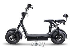 1000W Electric Scooters+Free 20in Adult Suitcase Citycoco Outdoor Scooters Black
