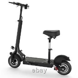 10 Tires Folding Electric Scooter with Seat 25MPH 15AH E-Scooter 500w Motor