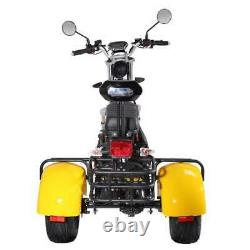 2000W Electric Motorized Tricycle Adult 3 wheels Scooter Trike with Rear Basket
