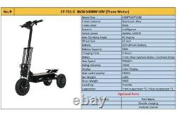 3 Wheeler 3 Motor 5400W 60V 31AH most powerful Electric Scooter