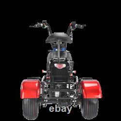 3 Wheels Trike Electric Scooter Golf Cart Fat Tire Citycoco USA Seller