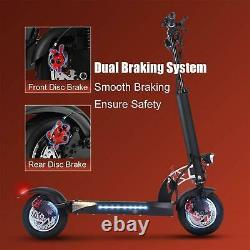 500W Foldable Electric Scooter, Max Range 38 Miles 10 Commuting E Scooter@