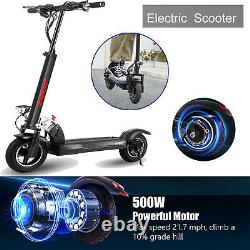 500W Foldable Electric Scooter for Adults, Max Range 38 Miles 36V 20Ah Battery