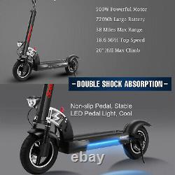 500W Max Range 38 Miles Electric Scooter for Adults Lightweight Commuter Scooter