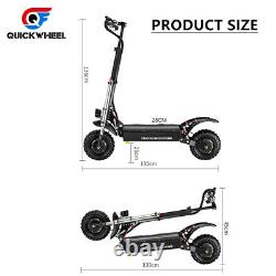 60V 5600W Foldable Dual Motor Off-road Electric Scooter For Large Adults