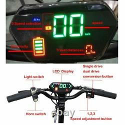 80KM/H Powerful Electric Scooters Adults 60V 3200W 11inch Off Road Fat tire Dual
