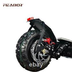 Adult Dual Motor Electric Scooter 11inch Off Road Tires Fast Speed 60v 5600w
