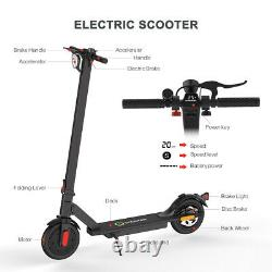 Adult Electric Scooter, Up To 16mph, 8.5 Air Filled Tyres, Anti-rattle, Folding