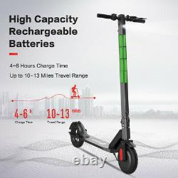 Black Electric Scooter Adults Ultra-Lightweight Foldable Kick Scooter 8.5'' Tire