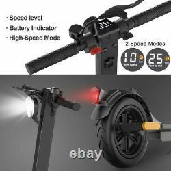 Double Brake MAX 16mph E-Scooter 25KM Portable Folding Kick Electric Scooter LED
