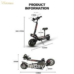 Dual Motor Electric Scooter Adult 11inch Off Road Tires Fast Speed 60v 5600w