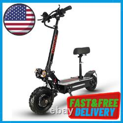 Dual Motor Electric Scooter For Adult 11inch Off Road Tires Fast Speed 60v 5600w