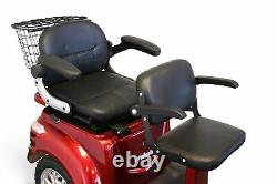EWheels EW-66 3 Wheel RED Electric Mobility 2 Passenger Scooter 15MPH NOTAX