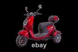 EWheels EW-Bugeye, 3 Wheels Mobility Scooter, Range 40 Miles, Cap 350 LBS, Red