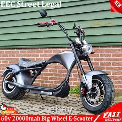 E-SCOOTER Chopper-Sunset 60V 2000W 20Ah 45km/h with street legal EEC Bike