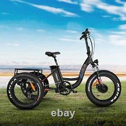 Electric Adult Tricycle 3 Wheel Commuter All Terrain 7 Speed Deer Hunting Cargo