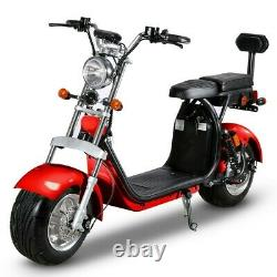 Electric Bicycle 1500W 60V Lithium Fat Tire City Scooter
