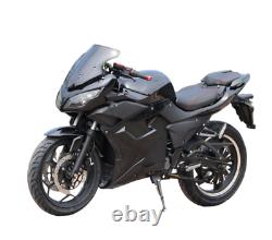 Electric Motorcycle Vehicle 5000W 72V 40AH Lithium Black Scooter
