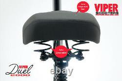 Electric Scooter 1000W 48V Viper Duel New 2020 Model, 2 x 1000W Motors = 2000W