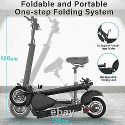Electric Scooter 1000W Motor, Up to 40 Miles Folding E-Scooter with Dual Braking