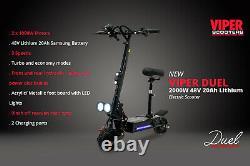 Electric Scooter 2000W 48V Viper Duel New 2020 Model, Terrain Tyres, VS