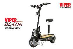 Electric Scooter 2000W 60V Viper Blade Sports New 2020 Model, Terrain Tyres. VS