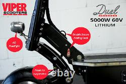 Electric Scooter 2500W, 5000W 60V 35AH Samsung Battery Viper Duel New 2020 Model