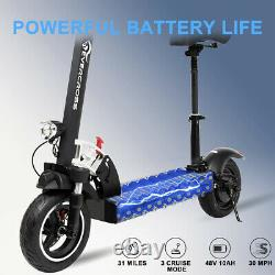 Electric Scooter 28MPH 10AH Folding E-Scooter 800w Motor For Adults Black