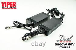 Electric Scooter 5000W 60V 35AH Samsung Battery, Viper Duel New 2020 Model
