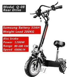 Electric Scooter Adult Dual motor 10inch off road tires Fast Speed 48v 1200W