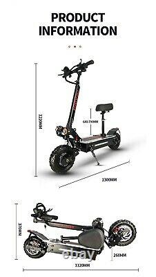 Electric scooter adult dual motor patinete eletrico e scooter 11inch off road