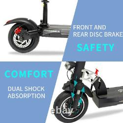 Folding Electric Scooter 28MPH 10AH E-Scooter 800w Motor For Adults Black