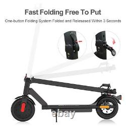 Folding Electric Scooter City E-Scooter 25KM Long-Range 8.5 Tires Double Brake