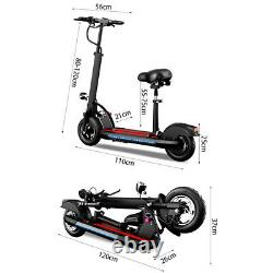 Folding Electric Scooter Portable 8AH Battery Rechargeable with LEDs and Paddle