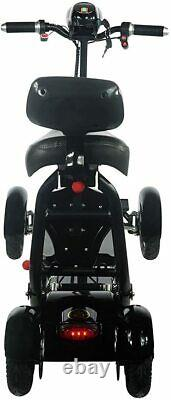 Folding Mobility Scooters for Adults, 4 Wheel Powered Electric Scooter with Seat