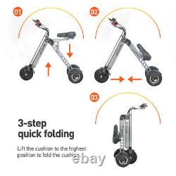 Freego EV Folding Electric Scooter Adult IPX7 36V 7.5Ah City Electric Tricycle