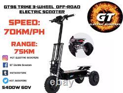 GT96 TRIKE 3-WHEEL OFF ROAD 5400W 60V E-Scooter