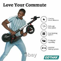 Gotrax V2 Commuting Foldable Electric Scooter Adult 8.5 Tire 15.5MPH Range 250W