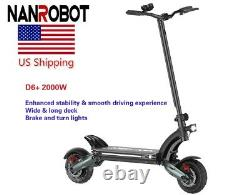 NANROBOT D6+ Electric Scooter 2000W 10Inch Adult Off-road Max 40MPH Disc Brake