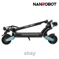 NANROBOT LIGHTNING Electric Scooter 1600W Adult 8'' Max 30MPH Folding Dual Motor