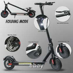 NHT Electric Lightweight Foldable Outdoor Scooter for Kids and Adults (Black)