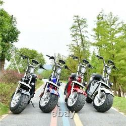 New 3000W Electric Wide Fat Tire 60V 20Ah Chopper Harley Design CityCoco Moped
