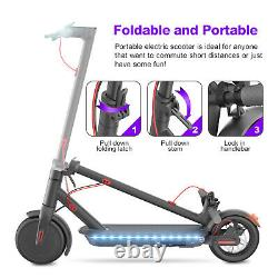 New! Electric Scooter Adult, with Side Light, Folding, 8.5Tire 350W, Black