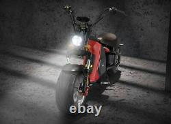 New Fat Wide Tire Electric Moped Chopper Motorcycle CityCoco 2000W 60V 20Ah