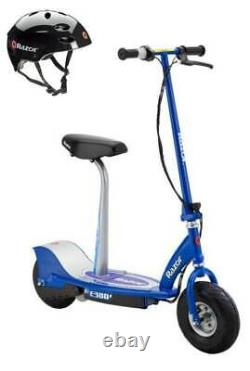 Razor E300S Adult 24V High-Torque Electric Powered Scooter withSeat & Helmet, Blue