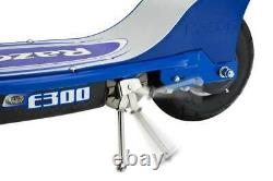Razor E300S Adult 24V Motor, Electric Powered Scooter with Seat, Blue (Used)
