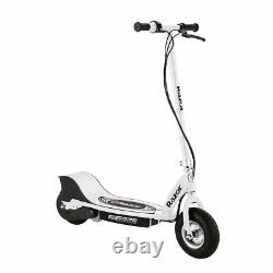 Razor E325 Adult Ride-On 24V High-Torque Motor Electric Powered Scooter, White