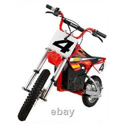Razor MX500 Red Dirt Rocket High-Torque Electric Motorcycle Dirt Bike for Adult
