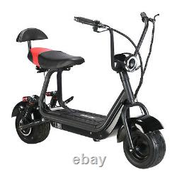 SAY YEAH 500W Mini Fatboy Citycoco Adult Scooter 48V12A Removable Battery Black