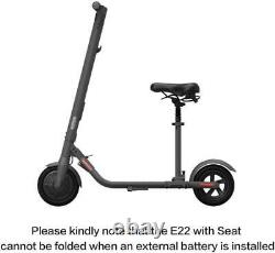 Segway Ninebot E22 with Seat Electric Kick Scooter Powerful Motor 9 Inch Tires